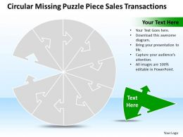 Business PowerPoint Templates circular missing puzzle piece sales transactions PPT Slides