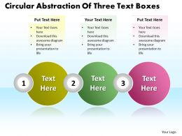 Business PowerPoint Templates circular ppt abstraction of three text boxes Sales Slides