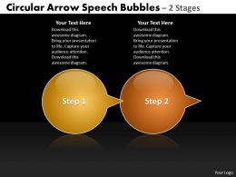 Business PowerPoint Templates circular ppt arrow speech bubbles 2 phase diagram Sales Slides