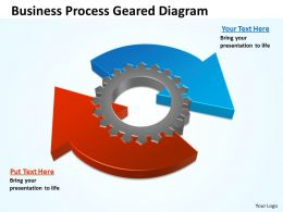 Business PowerPoint Templates circular process geared diagram Sales PPT Slides