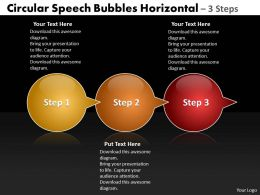 Business PowerPoint Templates circular speech bubbles horizontal 3 steps Sales PPT Slides