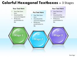 Business PowerPoint Templates colorful hexagonal text boxes 3 phase diagram ppt Sales Slides