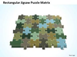 Business PowerPoint Templates colorful rectangular jigsaw Problem Solving Puzzle Piece matrix Sales PPT Slides