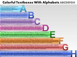 Business PowerPoint Templates colorful textboxes with alphabets abcdefgh Sales PPT Slides