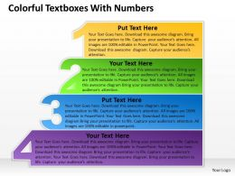 Business PowerPoint Templates colorful textboxes with numbers Sales PPT Slides