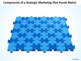 Business PowerPoint Templates components of strategic marketing plan Sales Puzzle matrix PPT Slides