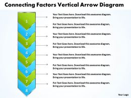 Business PowerPoint Templates connecting factors vertical arrow diagram Sales PPT Slides 8 stages