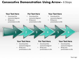 Business PowerPoint Templates consecutive demonstration using arrows six steps Sales PPT Slides
