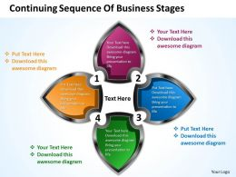 Business PowerPoint Templates continuing sequence of stages Sales PPT Slides