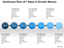 Business PowerPoint Templates continuous flow of 7 steps circular manner Sales PPT Slides