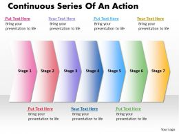 Business PowerPoint Templates continuous series of an action Sales PPT Slides 7 stages