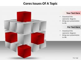 Business PowerPoint Templates cores issues of topic editable Sales PPT Slides