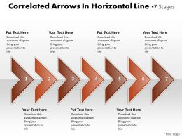 Business PowerPoint Templates correlated arrows horizontal line 7 stages Sales PPT Slides