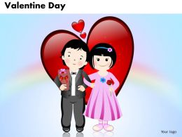 Business PowerPoint Templates couple with heart valentine day Sales PPT Slides