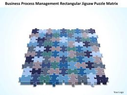 Business PowerPoint Templates cycle management rectangular jigsaw Puzzle matrix Sales PPT Slides