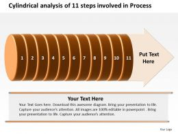 Business PowerPoint Templates cylindrical analysis of 11 steps involved process Sales PPT Slides