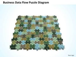 Business PowerPoint Templates data flow Sales Puzzle diagram PPT Slides