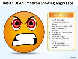 Business PowerPoint Templates design of an emoticon showing angry face Sales PPT Slides