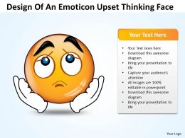 Business PowerPoint Templates design of an emoticon upset thinking face Sales PPT Slides