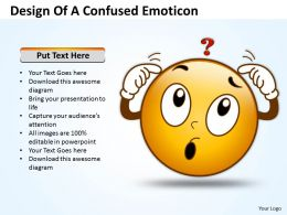 Business PowerPoint Templates design of confused emoticon Sales PPT Slides