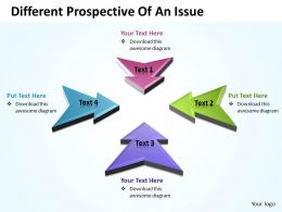 Business PowerPoint Templates different prospective of an issue Sales PPT Slides 4 stages