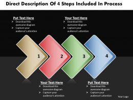 Business PowerPoint Templates direct description of 4 steps included process Sales PPT Slides