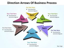 Business PowerPoint Templates direction ppt arrows of process editable Sales Slides