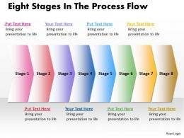Business PowerPoint Templates eight phase diagram ppt the process flow Sales Slides 8 stages