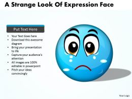 Business PowerPoint Templates expression of strange face Sales PPT Slides