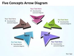 Business PowerPoint Templates five concepts arrow diagram Sales PPT Slides 5 stages