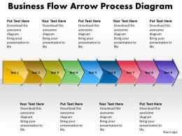 Business PowerPoint Templates flow arrow process diagram Sales PPT Slides 9 stages