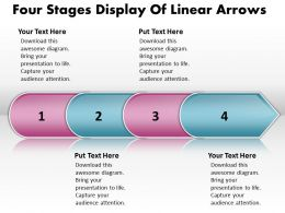 Business PowerPoint Templates four phase diagram ppt display of linear arrows Sales Slides