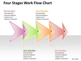 Business PowerPoint Templates four stage work flow chart Sales PPT Slides