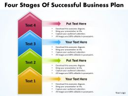 Business PowerPoint Templates four state diagram ppt of successful plan Sales Slides 4 stages