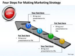Business PowerPoint Templates four steps for making marketing strategy Sales PPT Slides