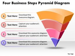 Business PowerPoint Templates four steps pyramid game diagram Sales PPT Slides