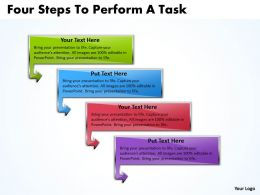 Business PowerPoint Templates four steps to perform task Sales PPT Slides 4 stages
