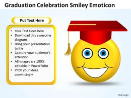 Business PowerPoint Templates graduation celebration smiley emoticon Sales PPT Slides