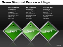 Business PowerPoint Templates green diamond process of 3 state diagram ppt Sales Slides