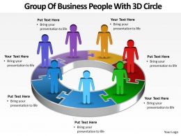 Business PowerPoint Templates group of people with 3d bar Sales PPT Slides