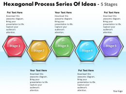 Business PowerPoint Templates hexagonal process series of ideas 5 state diagram ppt Sales Slides
