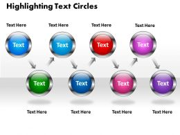 business powerpoint templates highlighting text circles presentation sales ppt slides