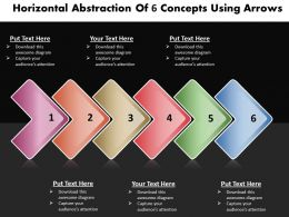 Business PowerPoint Templates horizontal abstraction of 6 concepts using arrows Sales PPT Slides