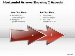 Business PowerPoint Templates horizontal arrows 2010 showing aspects Sales PPT Slides