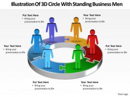 Business PowerPoint Templates illustration of 3d circle with standing men Sales PPT Slides