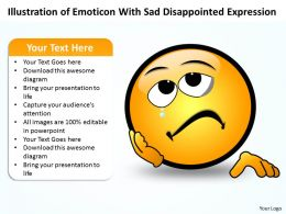 Business PowerPoint Templates illustration of emoticon with disappointed expression Sales PPT Slides