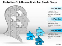 business_powerpoint_templates_illustration_of_human_brain_and_puzzle_pieces_sales_ppt_slides_Slide01