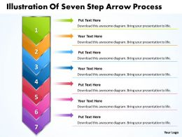 Business PowerPoint Templates illustration of seven step arrow process Sales PPT Slides 7 stages