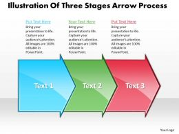 Business PowerPoint Templates illustration of three state diagram ppt arrow process Sales Slides 3 stages