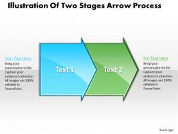 Business PowerPoint Templates illustration of two stage arrow process Sales PPT Slides 2 stages